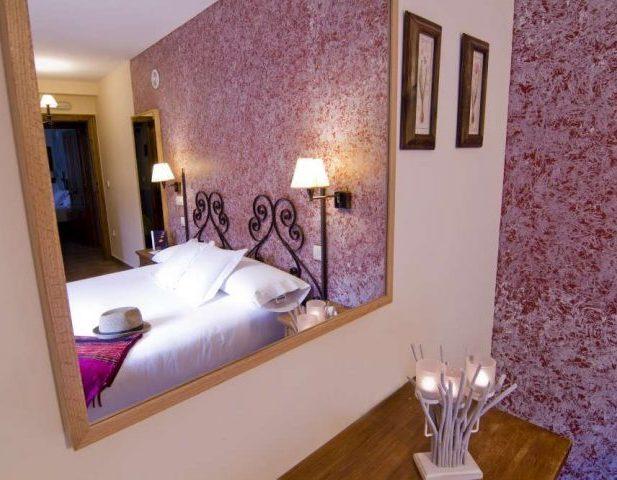 Habitación hotel rural con encanto Rustica Posada de Uncastillo