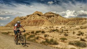 Bardenas Reales en BTT. Mountain bike, MTB.