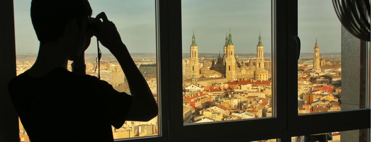 Mirador de Zaragoza, vistas de la catedral de El Pilar.