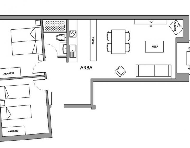 Plano Apartamentos rurales Arba Rusticae