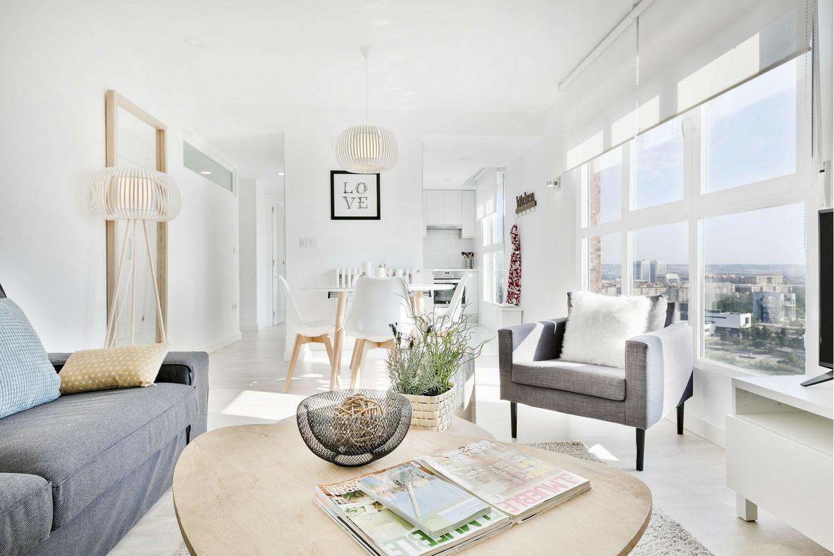Salón Mirador de Zaragoza alquiler apartamento Rusticae