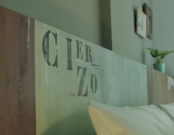 Detalle dormitorio apartamento El Mirador de Zaragoza