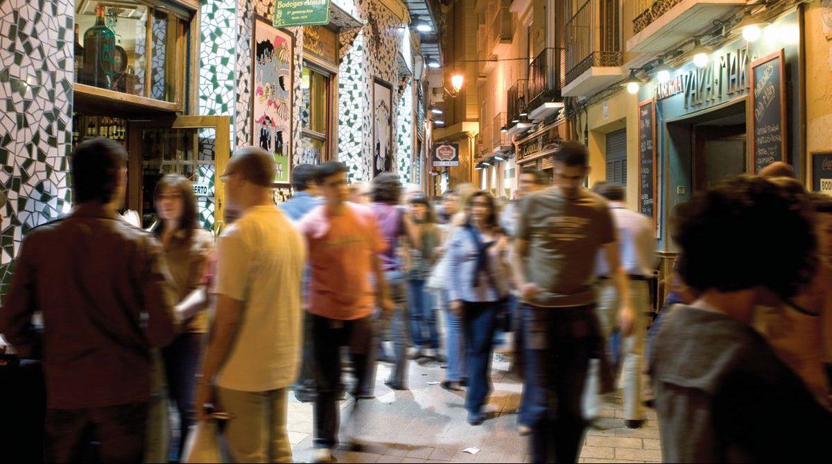 El Tubo, zona de tapas en Zaragoza