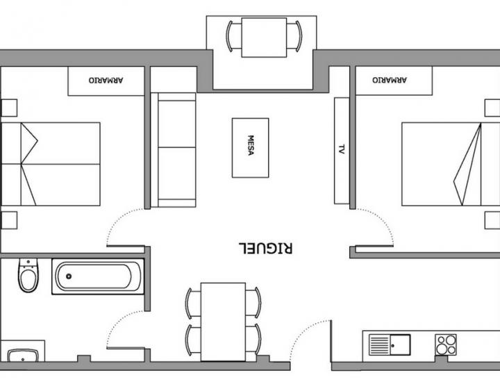Plano Apartamento Riguel turismo rural prepirineo