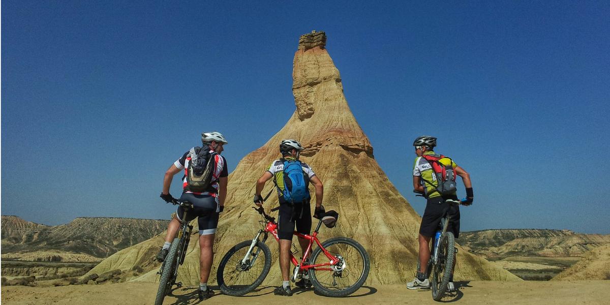 Castildeterra en BTT - Parque Natural de Bardenas Reales. MTB, mountain bike.