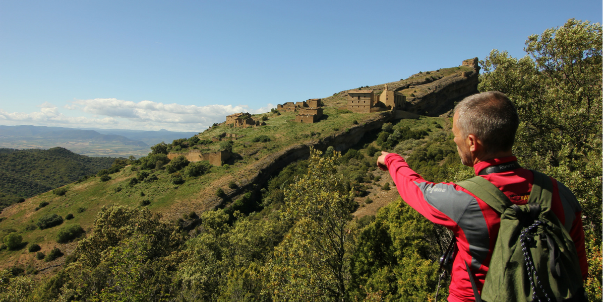 Despoblado medieval de Peña. Prepirineo navarro. Senderismo, trekking, hiking.