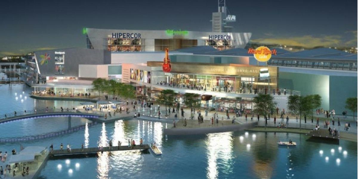 Puerto Venecia centro comecial Zaragoza, shopping, compras. Alquiler apartamento turístico.