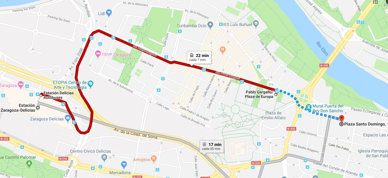 Cómo llegar Mirador de Zaragoza