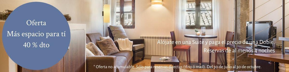 Oferta Suite a precio de Doble en Posada de Uncastillo en el Prepirineo de Aragón