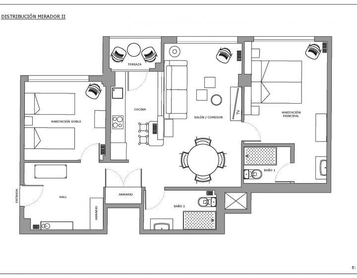 Distribución Apartamento Centro de Zaragoza