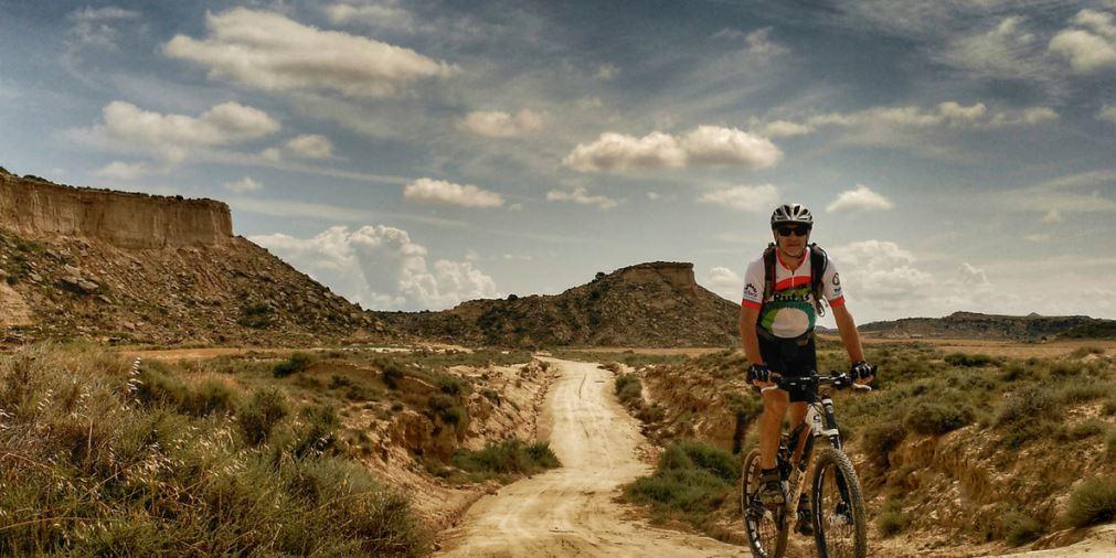 Bardenas Reales Navarra en bici  de montaña