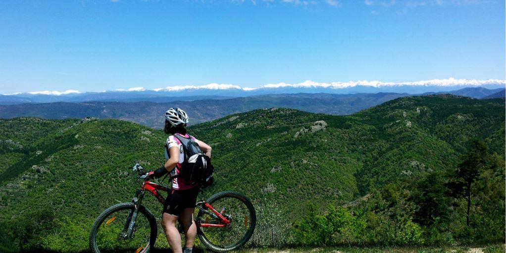 Bici de montaña en el Pre Pirineo entre Huesca y Navarra