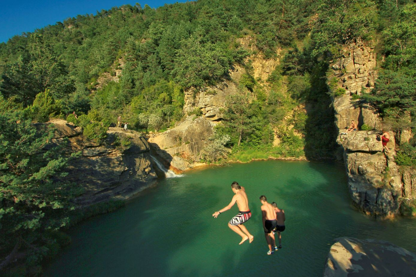 Pozo de Pigalo, piscina natural entre Navarra y Huesca