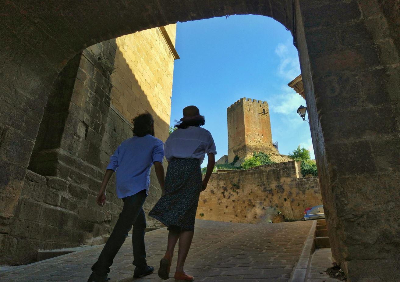 Fortaleza de Uncastillo cerca de Sos del Rey Católico