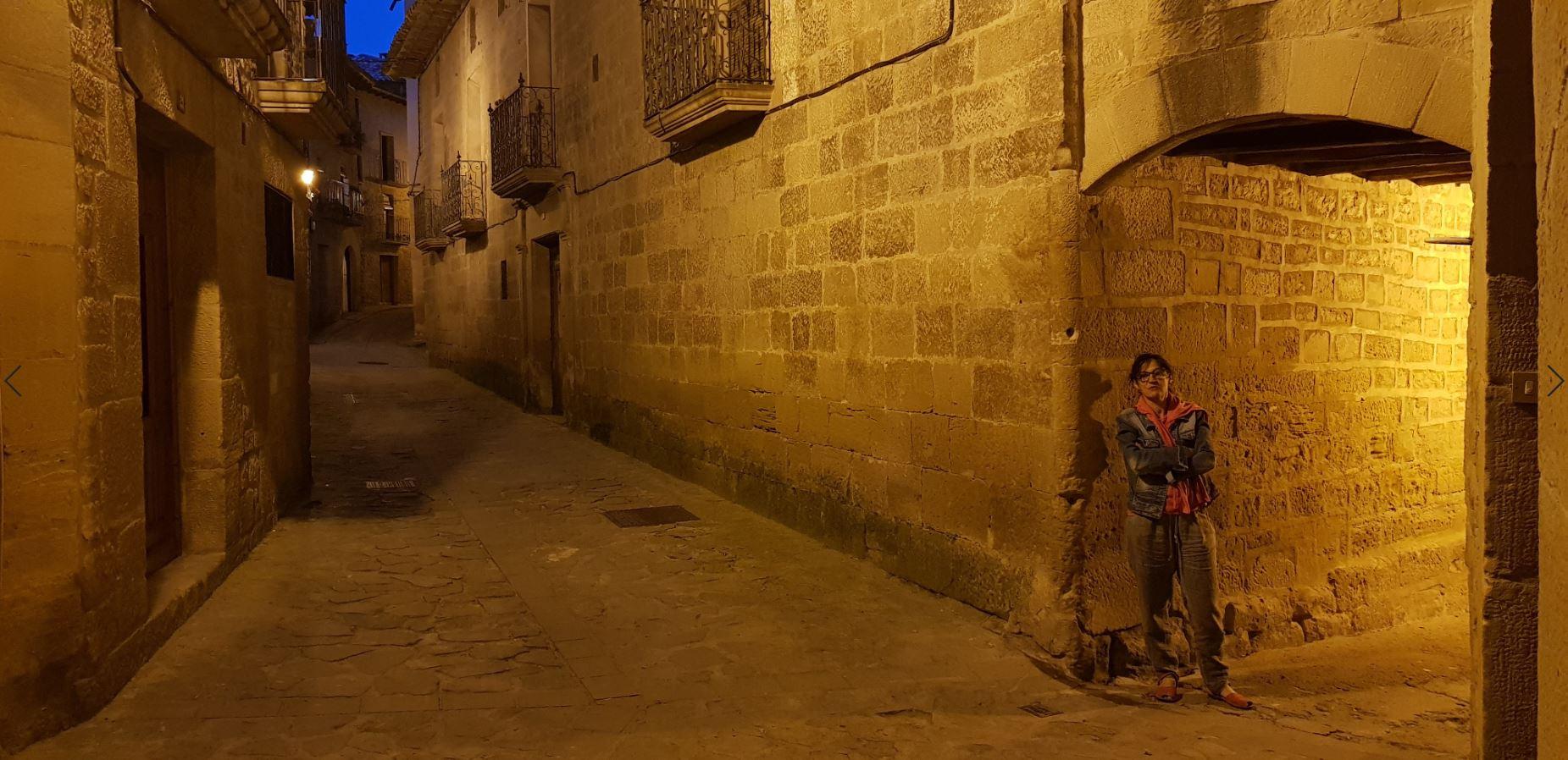 Calles medievales de Uncastillo, entre Navarra y Huesca