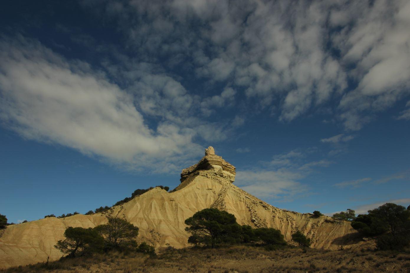 Castillo Peñaflor o de Doña Blanca en Bardenas